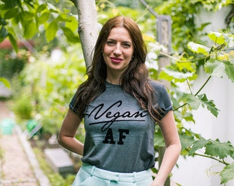 Vegan af shirt / Vegan t shirt / Vegan tshirt / Cute vegan shirt / Vegan clothing / Funny vegan shirts / Cute vegan t-shirt / Vegan AF