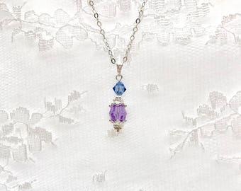 Bridesmaid Pendant, crystal Pendant, Bridal Party Gift, Bridesmaid Gift