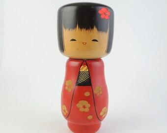 Vintage kokeshi doll, Large