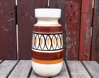 Vintage West German Pottery Vase/West German Pottery/242-22 W. German/Ceramic Vase/Modernist Pottery/Mid Century Pottery/Scheurich Vase