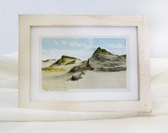 Framed Vintage Postcard - Sand Dunes, Cape Cod, Massachusetts