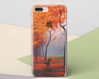 Fall Nature 3D Case Clear S6 Case Phone Galaxy Transparent Case Autumn Tree S7 case Galaxy S5 Case S4 Phone Case iPhone 6 Plus Case CG1024
