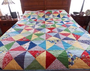 Color Your World Full-Queen Scrap Quilt