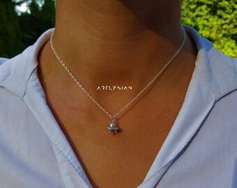 Space ship necklace,spaceship necklace, space ship choker,rocket ship necklace,outer space necklace, spaceship jewelry, astronaut necklace,