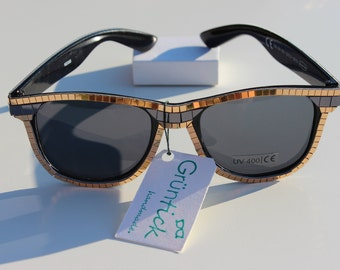 Bling Bling Glasses-sunglasses Wayfarer with mirror mosaic studded, sparkles and glitters, gold and black