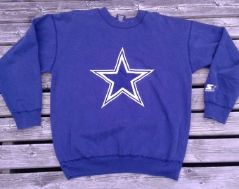 Vintage 90's Dallas Cowboys Starter Crew-neck Made in Canada medium