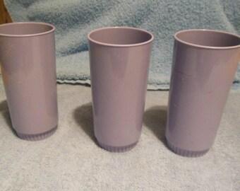 3 Purple/Lilac  Royalon Melmac Tumblers