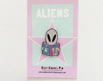Aliens Magazine Enamel Pin Badge