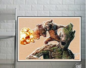 Guardian of the Galaxy  - Fine Art Print - A4/A3