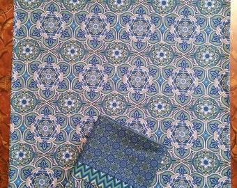 Pillow Cases, Set of 2 Standard Cotton Pillow Cases, Standard Pillow Cases, Pillow Case Set, Set of Pillow Cases, Blue Pillow Cases
