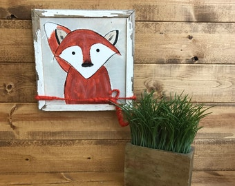 Hand painted fox picture