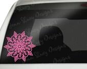 Mandala Flower Car Decal - Mandala Decal - Flower Decal Decal - Yeti Decal - Tumbler Decal - Wall Decal - Laptop Decal - Phone Decal