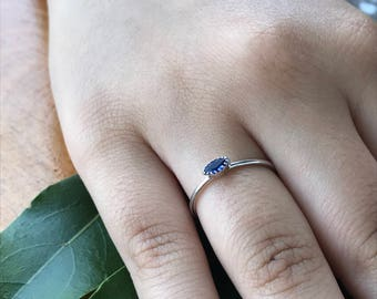Sapphire Ring, Rings, Engagement Ring, Wedding Ring, Promise Ring, Anniversary Ring, Stackable Ring, Bridal Ring, Gold Ring, White Gold Ring