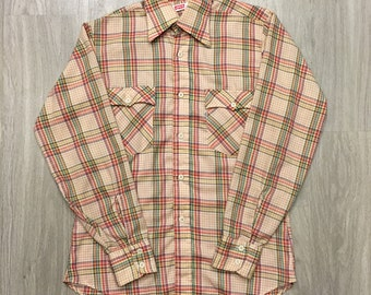 Wrangler Vintage Multi-Color Plaid Western Shirt - Men's Size Medium