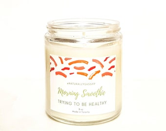 Morning Smoothie  - 8 oz Soy Candle