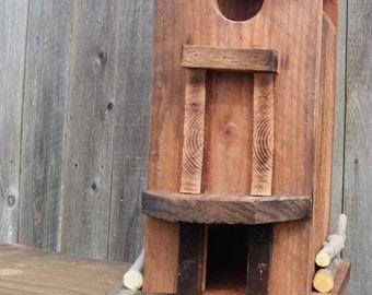 Rustic Birdhouse Bird Feeder Handmade Reclaimed Wood natural habitat!