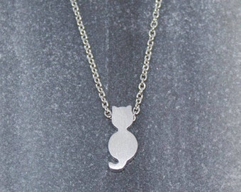 Necklace Silver Plated Cat