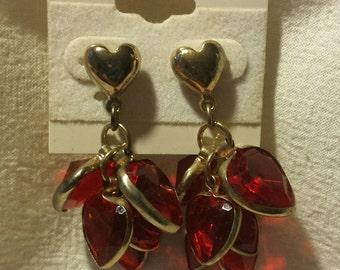 Retro 70's Heart Earrings