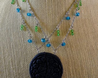 BFF Oreo cookie necklaces