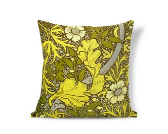 William Morris Pillow - Victorian Pillow - Floral Pillow Sham - Accent Pillow - Textured Pillows - Throw Pillow Cover - Decorative Pillows