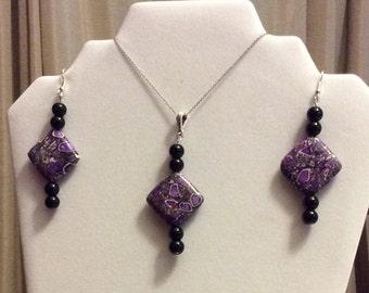 REDUCED , Jewelry set / Earrings / Pendant