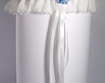 FERVER; wedding; garter; White; Valentine's day; wedding; Honey moon. Union; ceremony; Alliance; bride; hand made. Silk