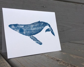 Humpback Whale Hand-printed Stationery Set