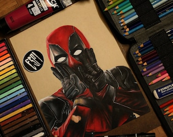 Deadpool: - Illustrated Print