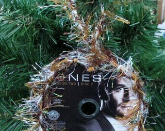 Bones Christmas Ornament Upcycled TV Show DVD