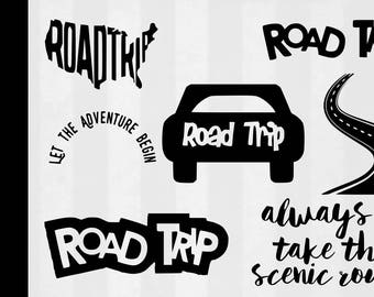 Road Trip SVG Bundle, Road Trip clipart, Road Trip cut files, svg files for silhouette, files for cricut, svg, dxf, eps, cuttable design