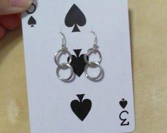 Two Ring Dangle Earrings