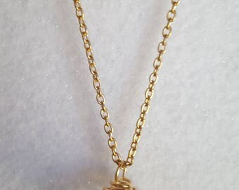 Gold Cage Pendant