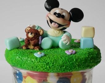 Baby Mickey jam jar