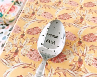"""Engaged"" - engraved stainless steel spoon spoon"