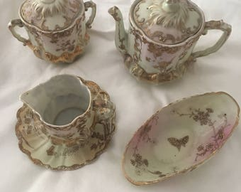 Vintage Fine Bone China 4 piece Tea Set