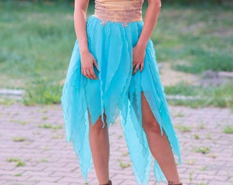 Bridesmaid dress embroided pixie