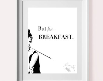 Breakfast at Tiffany's Wall Art Quote - Printable - Print
