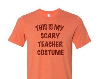 Teacher Halloween Costume Funny Party Tee T Shirt Drinking Shirt