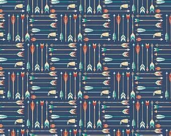 Arrow Flannel Fabric by the Yard, Cotton Fabric Arrow Fabric Arrow Print Fabric Quilt Cotton Flannel Baby Flannel Apparel Fabric Riley Blake