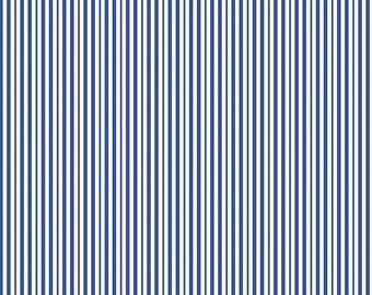 Blue Stripes Fabric by the Yard, 100% Cotton Fabric Striped Material Striped Fabric Apparel Fabric Half Yard Fabric Quilt Fabric Riley Blake