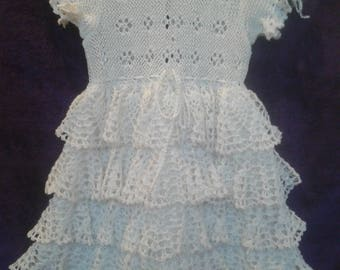 Girl's dress, pure linen