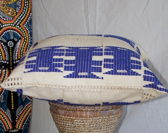 Double-sided Aso-Oke throw pillow cover