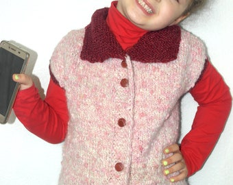 Knitted kid's warm vest