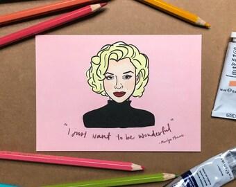 Marilyn Monroe Postcard Print