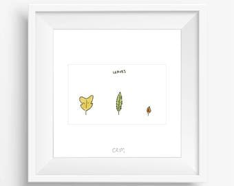 CRUM | Leaves (white)