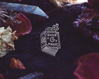 Queer Magic - Enamel Pin - Lapel Pin - Book Of Shadows