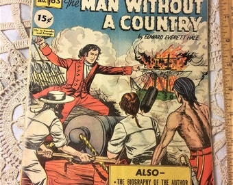 1949 Classics Illustrated #63, Man Without a Country by Edward Everett Hale
