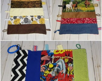 Baby Security Blanket, Sensory Blanket, Tag Blanket
