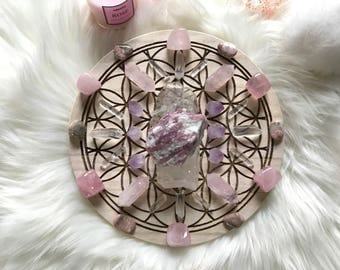 20cm Soulmate Manifestation Complete Set of Crystal Grid