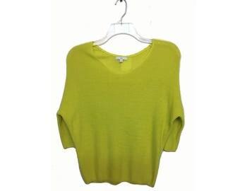 Yellow Dolman Light Weight Sweater Top